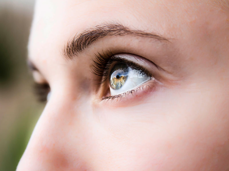 Upclose photo of girl's eyes