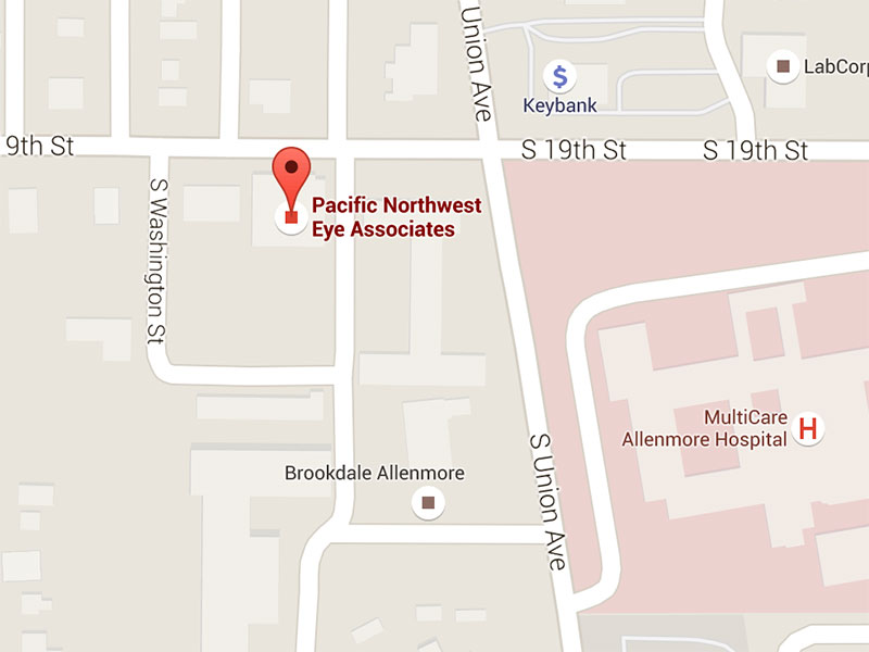 Map of Pacific Northwest Eye Associates